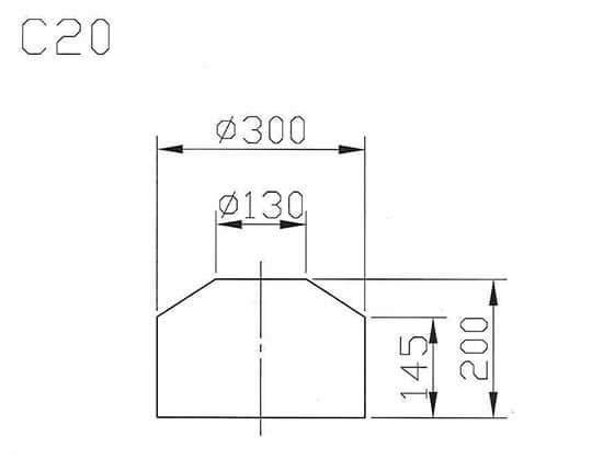 C20最大工件尺寸圖