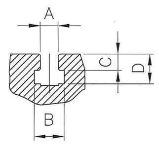 T型槽詳圖