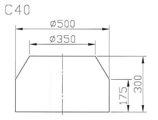 C40最大工件尺寸圖
