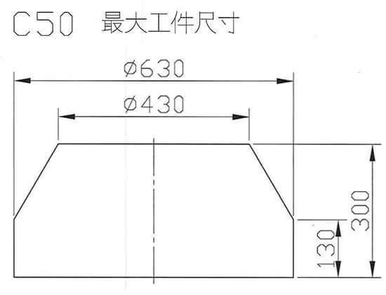 C50最大工件尺寸圖
